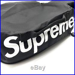 Supreme Waist Bag Black SS17 Medium Fanny Shoulder Bag Box Logo Backpack New USA