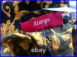 Supreme Warm Up Pant Black Floral SS20 Size XL Versace Foamposite milan box logo