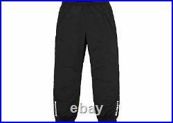 Supreme Warm Up Pants Black White XL Track Brooklyn Ss18 Box Logo Ready To Ship