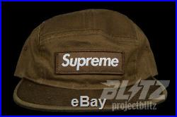 Supreme Washed Chino Twill Camp Cap Moss Fw18 2018 Olive Box Logo Hat