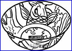 Supreme Waves Ceramic Bowl Multicolor Brand new tags Fish Graphic Bogo Box Logo