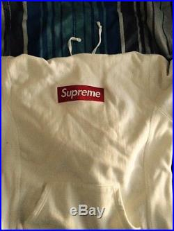 Supreme White Box Logo Hoodie