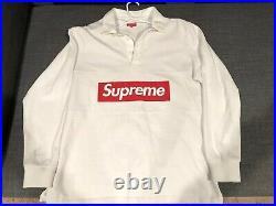 Supreme White Team Rugby FW15 Box Logo XLarge Preowned