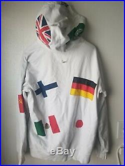 Supreme White XL 2013 vintage FLAGS box logo Hoodie RARE AF 100% AUTHENTIC hoody