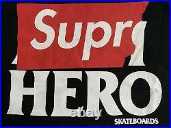 Supreme X AntiHero Black Pocket Tee M Box Logo SS14 vintage