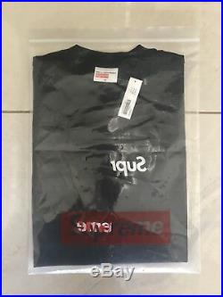 Supreme X Comme Des Garcons / CDG Shirt Split Box Logo Tee Black Medium