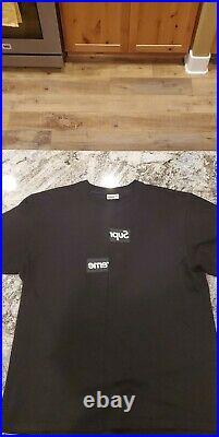 Supreme X Comme Des Garcons Shirt / Split Box Logo Tee (black) / 100% Authentic