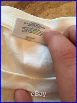 Supreme X Comme des Garcons Shirt CDG Split Box Logo Tee White DS Size XL