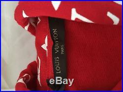 Supreme X Louis Vuitton Box Logo All Over Monogram Hoodie Size XXL