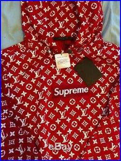 Supreme X Louis Vuitton Box Logo Hoodie Size Medium