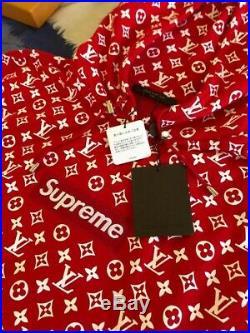Supreme X Louis Vuitton Box Logo Hoodie Size X-Large