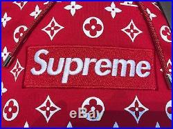 Supreme X Louis Vuitton Box Logo Monogram Hoodie 4l (xl/xxl) Hoody LV Bogo