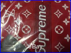 Supreme X Louis Vuitton Red Box Logo Hoodie Medium