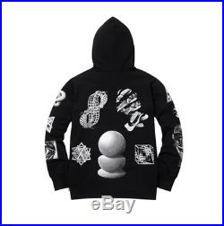 Supreme X M. C. Escher Hooded Sweatshirt Black Size L Box Logo Hoodie
