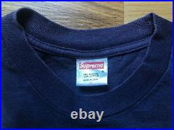 Supreme Yo! MTV T Shirt 1999 Navy Box Logo Medium Vintage Nas Gucci Mane Dipset