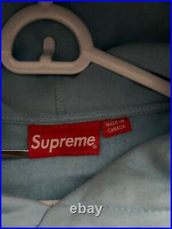 Supreme bandana box logo hoodie Light blue size L 100% AUTHENTIC