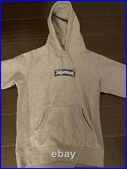 Supreme bandana box logo hoodie grey