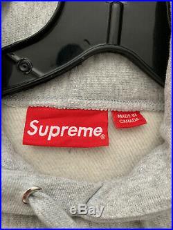 Supreme bandana box logo hoodie grey-size L 100% AUTHENTIC