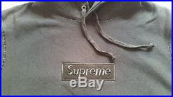 Supreme black Tonal Box Logo Hooded Pullover sz MEDIUM M +receipt hoody hoodie $