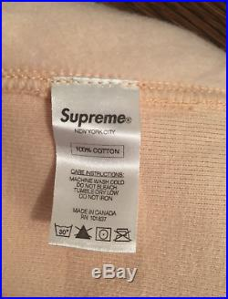 Supreme box logo Bogo hoodie sweater Peach Size LARGE