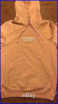 Supreme box logo Bogo hoodie sweater Peach Size SMALL
