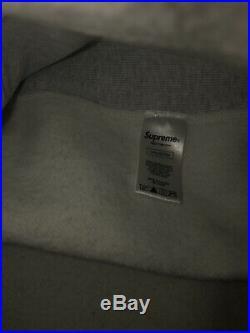 Supreme box logo Crewneck Red on Gray fw18 Size M