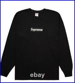 Supreme box logo Long Sleeve Shirt Black/Red 2020 Size Large