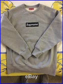 Supreme box logo crewneck hoodie