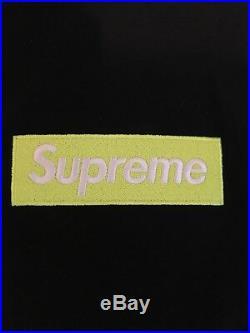 Supreme box logo hooded small sweatshirt fw17 Lime On Black