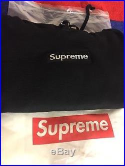 Supreme box logo hooded sweatshirt FW16 black size large fits medium