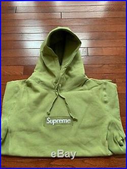 Supreme box logo hoodie Green fw16 XLarge