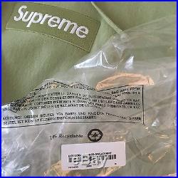 Supreme box logo hoodie Sage