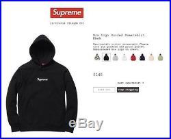 Supreme box logo hoodie black size medium 100% Legit