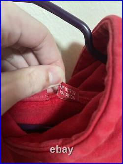 Supreme box logo hoodie large (red)