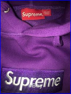 Supreme box logo hoodie purple size L