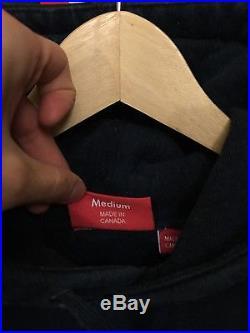 Supreme box logo hoodie size M navy FW11