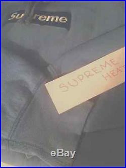 Supreme box logo hoodie sky blue sz XL