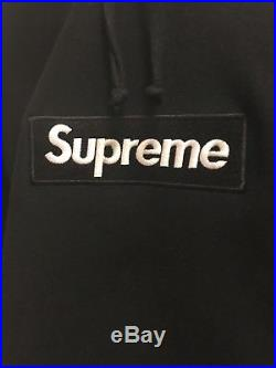 Supreme box logo hoodie white on black authentic