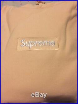Supreme box logo hoodie xl Peach