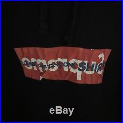 Supreme cdg Comme Des Garcon Black box Logo Hoodie SS17 Size Medium Brand New