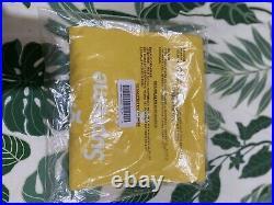 Supreme cross box logo tee Yellow XL (Unworn/Original Packaging)