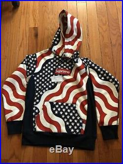Supreme flag box logo sweatshirt Hoodie Red Navy White The North Face Pink