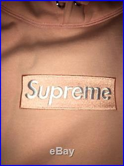 Supreme hoodie Box Logo Peach Ua