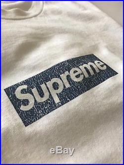 Supreme new york yankees box logo bogo tee shirt size large