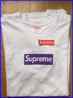 Supreme purple box logo tee shirt size Large