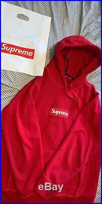 Supreme red box logo hoodie