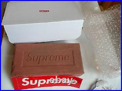 Supreme red clay Brick FW16 + BOX LOGO STICKER fall/winter 2016 debossed logo