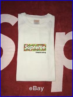 Supreme x Bape Box Logo Psyche Camo Size Medium GRAIL Japan red green yellow ape