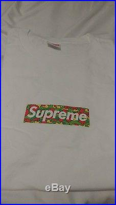 Supreme x Bape Camo Box Logo Tee Shirt Size S Small