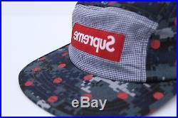 Supreme x CDG 5-Panel Camp Cap red box logo